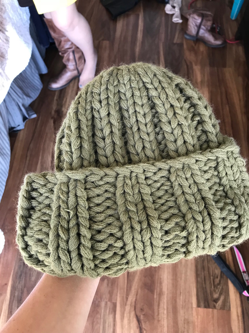 pea green beanie, pea green knit beanie, pea green hat