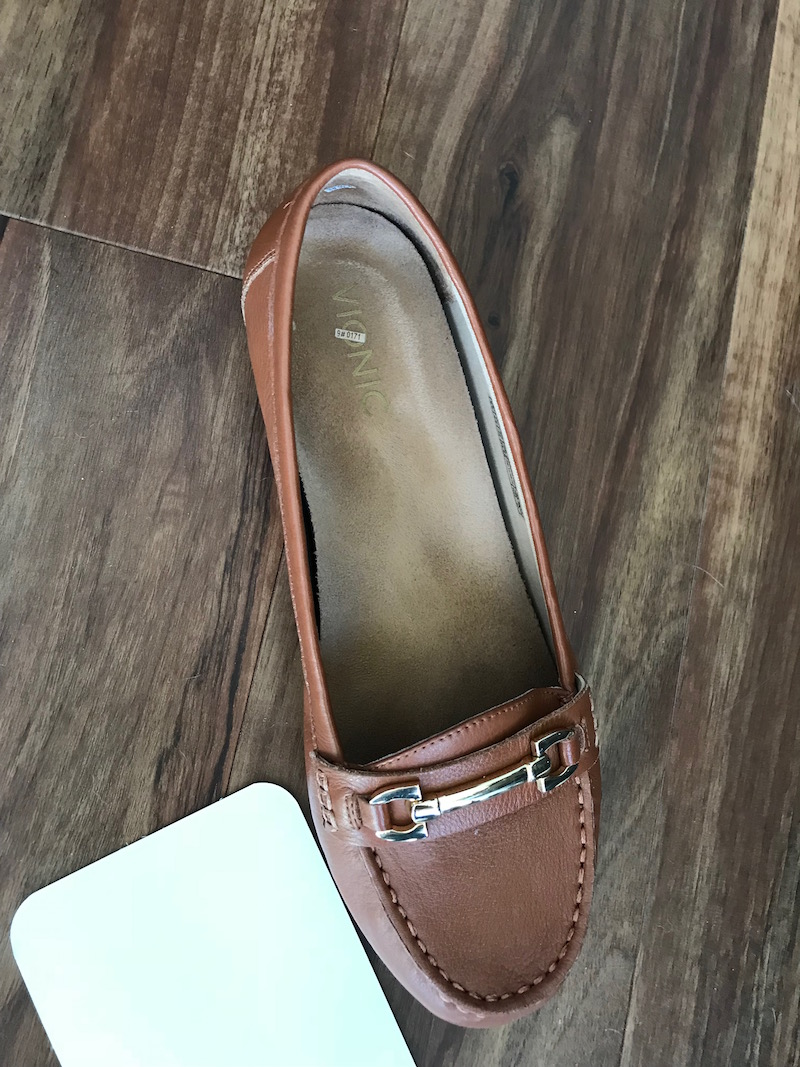 vionic brown loafers