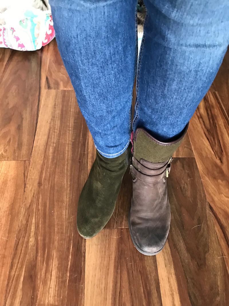 aquatalia green suede booties, ugg dark brown ankle boots