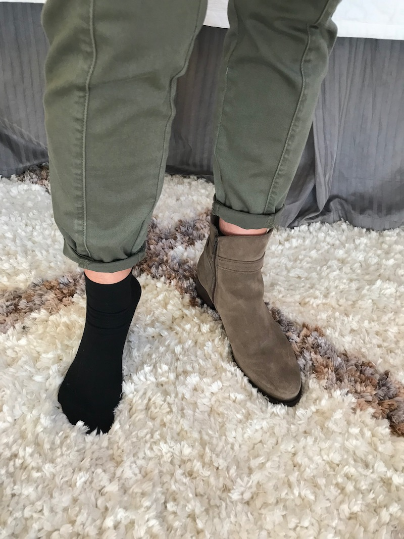 c la cannabienns tan suede booties