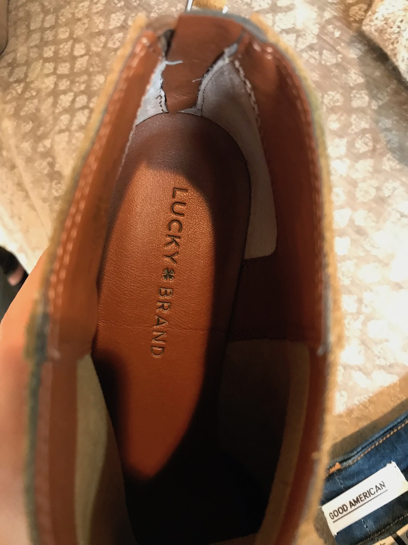 lucky brand tan suede booties