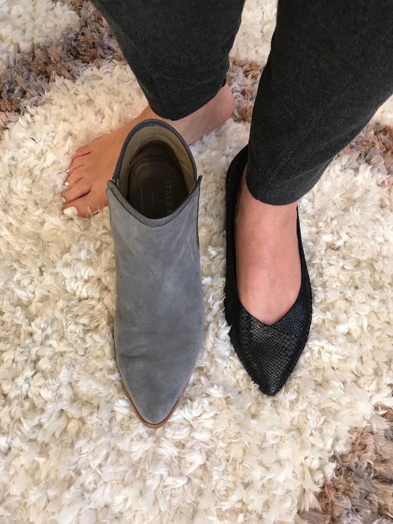 grey suede pointy toe booties, vionic black pointy toe flats