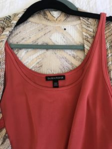 Eileen Fisher coral tank top