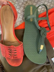 ipanema green sandals, Corso Como red sandals