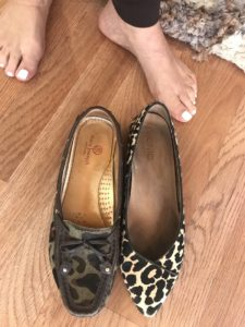 Marc Joseph camo loafers, Vicnic animal pring flats