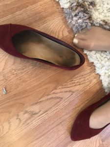 Vince wine colored flats