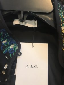 ALC black printed floral top