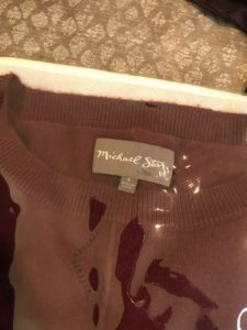 Michael Stars burgundy crew neck sweater