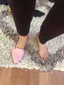 Trotters pink flats